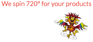 We spin 720 degrees for your products