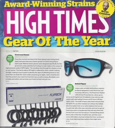 Method Seven Hightimes Gear of the Year